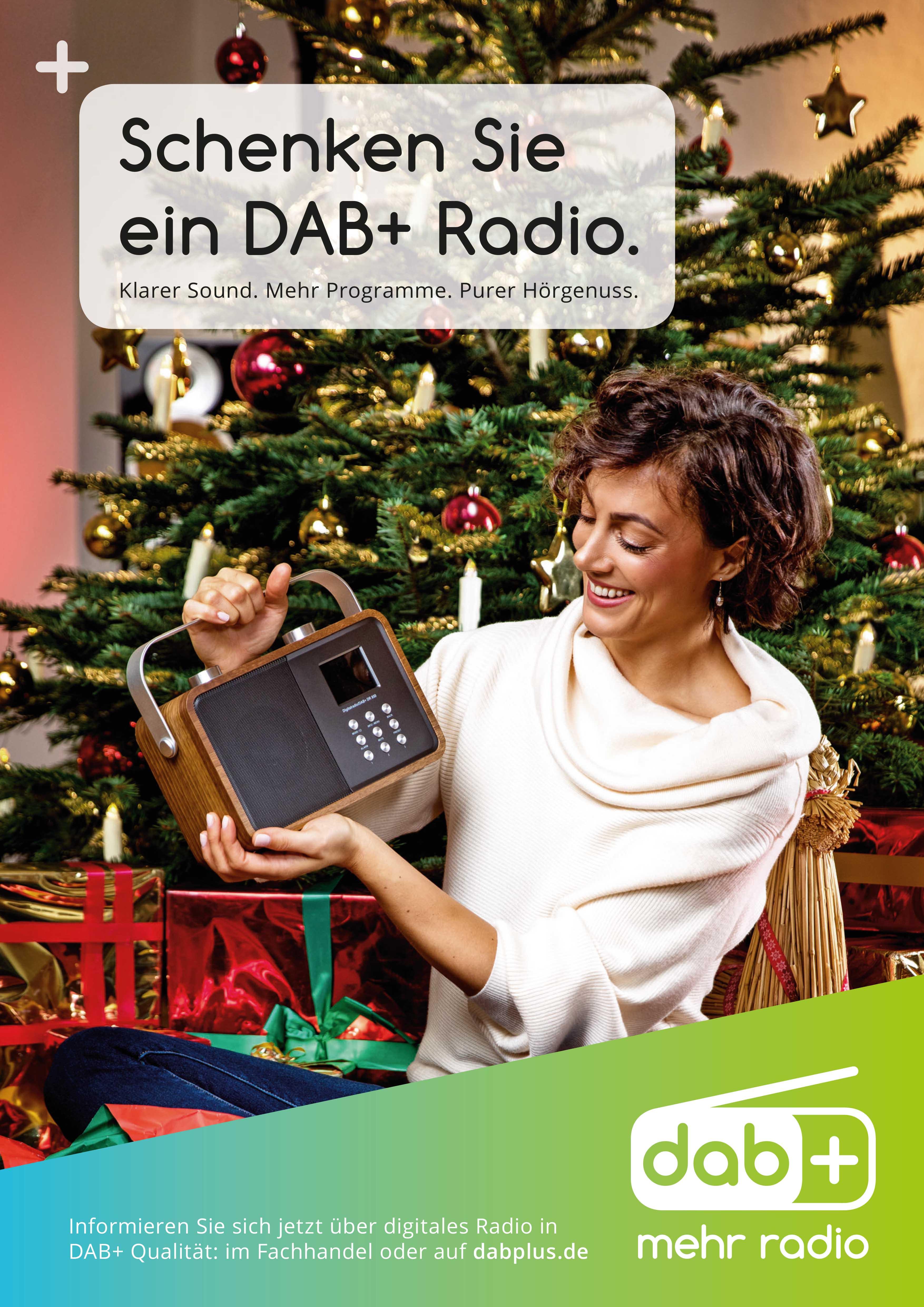 """DAB+ Weihnachtsaktion: """"Schenken Sie ein DAB+ Radio"""""""